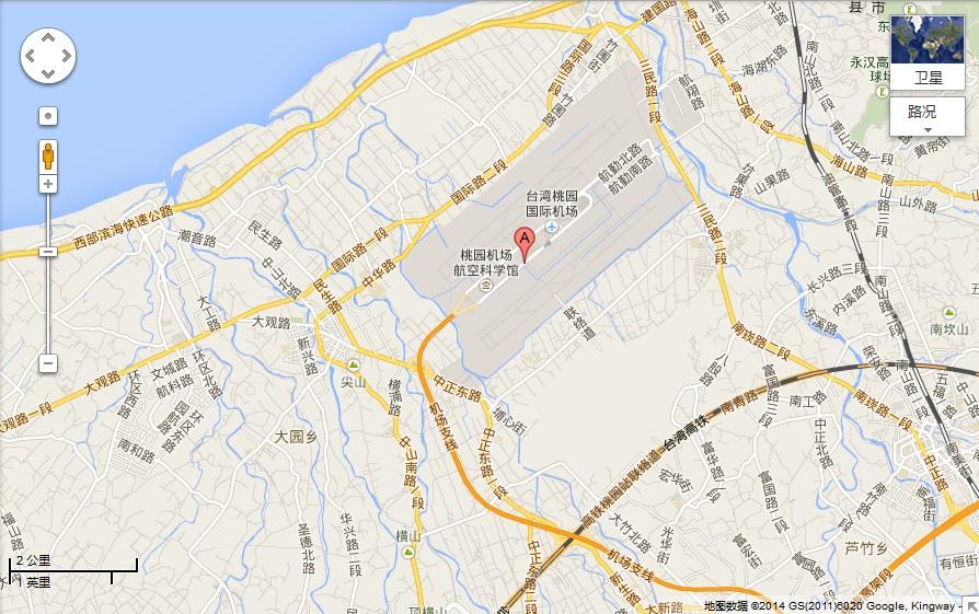 台湾台北桃园国际机场地图